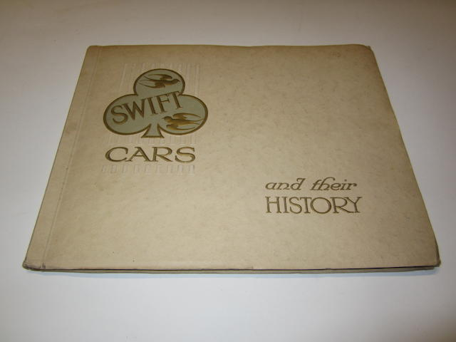 """A Swift Cars """"and their History"""" sales brochure,"""