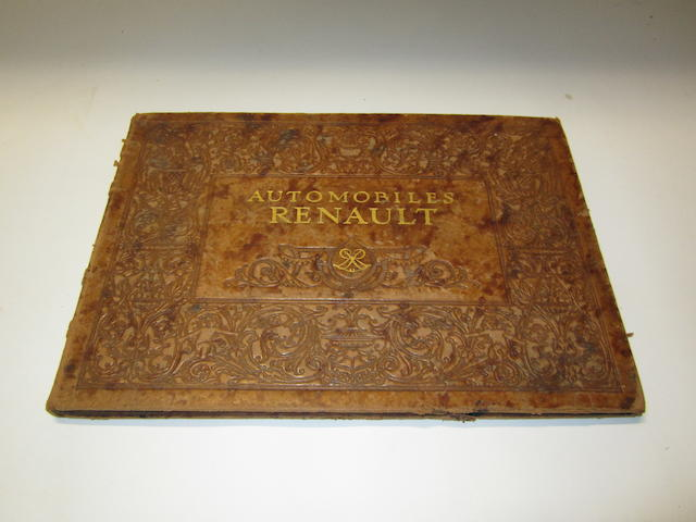 An Automobiles Renault leather-bound deluxe catalogue, 1910,