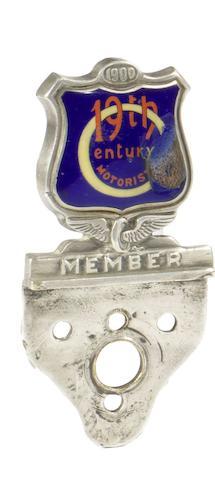 A Circle of 19th Century Motorists enamel members badge,