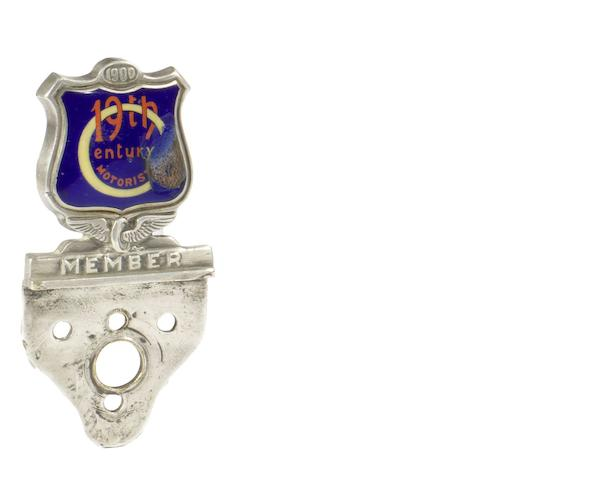 A Circle of 19th Century Motorists enamel members badge,