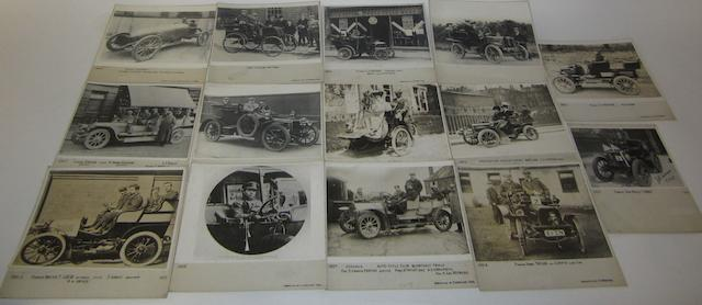 Fifteen photographs of motoring pioneers,