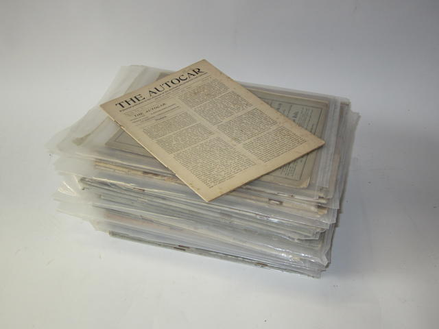 Forty-two assorted issues of The Autocar, from 1897 to 1908,