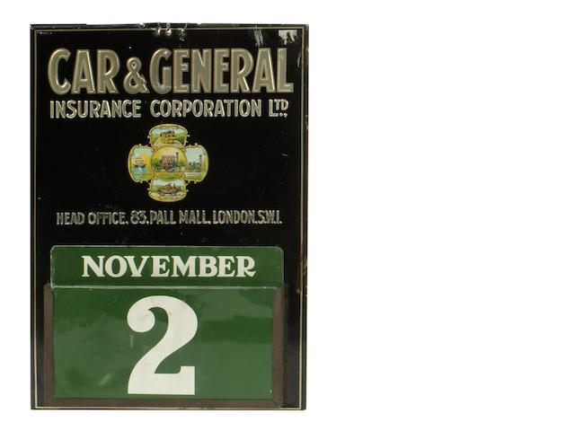 A Car and General Insurance perpetual calendar,