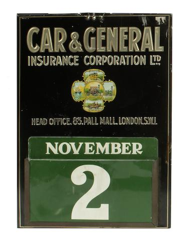 A Car and General Insurance perpetual calendar,