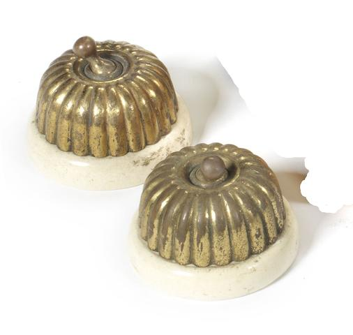 A pair of 'Jelly Mould' veteran ignition switches,