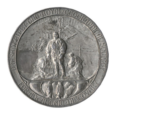 SCOTT (ROBERT FALCON) Royal Geographical Society silver medal 1902-1904, of the type presented to Captain Scott and members of the British National Antarctic Expedition, [c.1904]