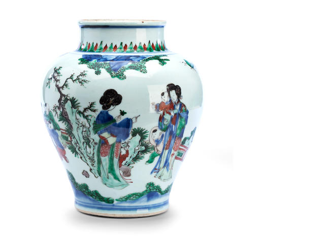 A wucai oviform vase 17th century