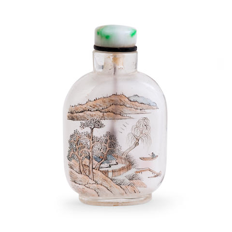 An inside painted snuff bottle Inscribed Ma Shaoxuan