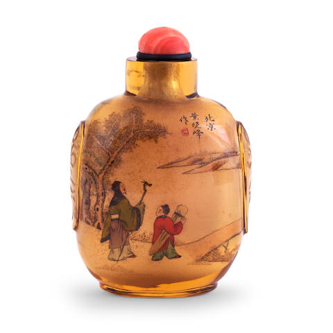 A Beijing School, inside painted snuff bottle