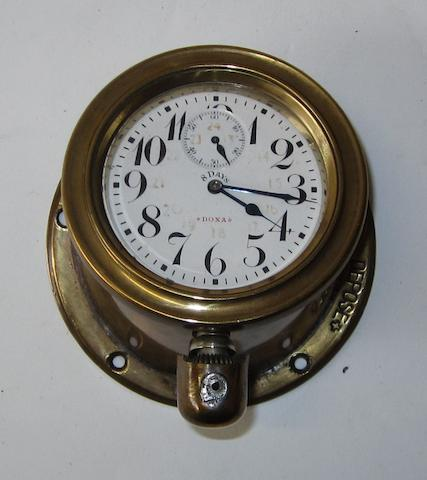 A Doxa 8-day car clock, circa 1910,