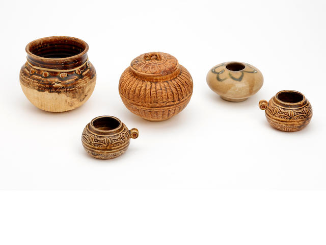 A collection of Chinese earthenware items
