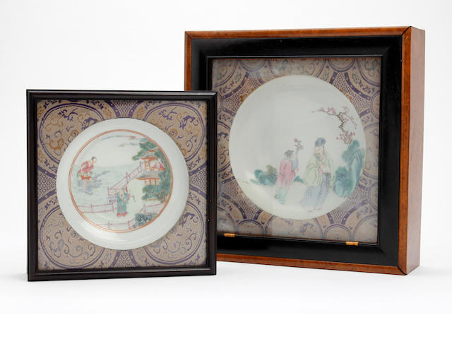 Two Chinese famille rose dishes 19th/20th Century