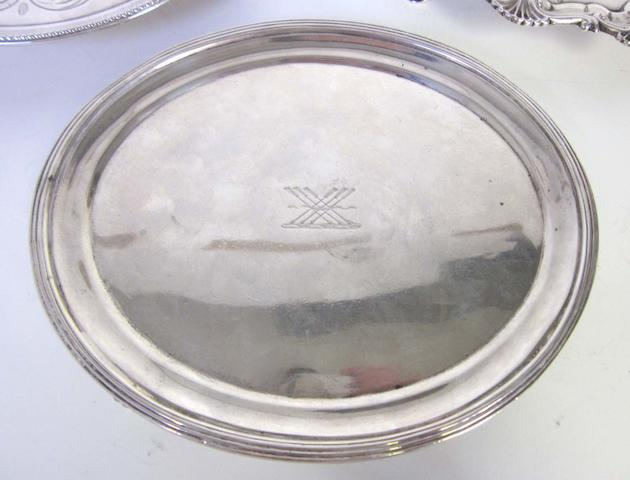 A mid-19th century Indian Colonial silver teapot stand by Hamilton & Co of Calcutta  (1)