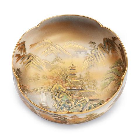A Satsuma bowl by Shozan Meiji