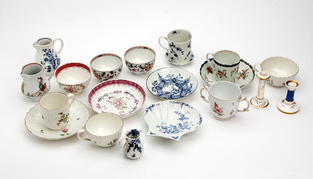 A collection of early English pottery Late 18th century