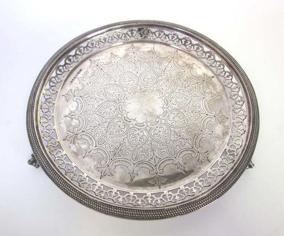 A Victorian  silver  salver James Dixon & Sons, Sheffield 1879  (4)