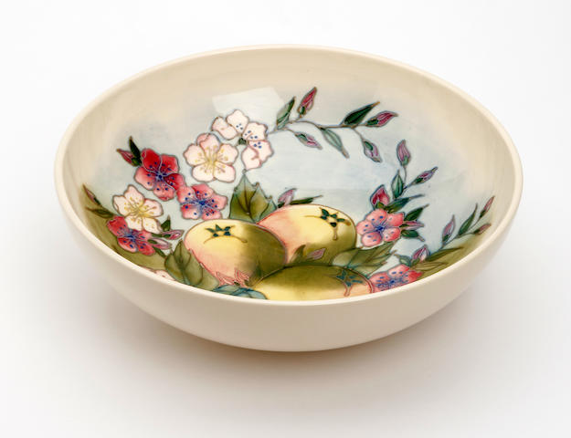A Moorcroft limited edition 'Temptation' pattern bowl  Dated 1990