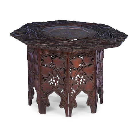 A Kashmiri low centre table 19th century