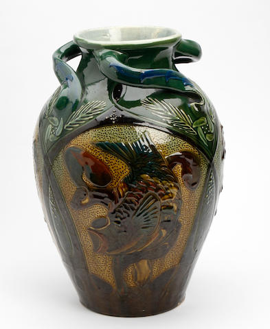 A C.H. Brannam vase Dated 1904