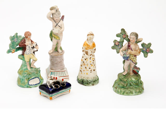 A small collection of Staffordshire figures 19th century