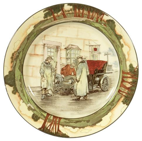 A Royal Doulton 'Series Ware' motoring plate by George Holdcroft,