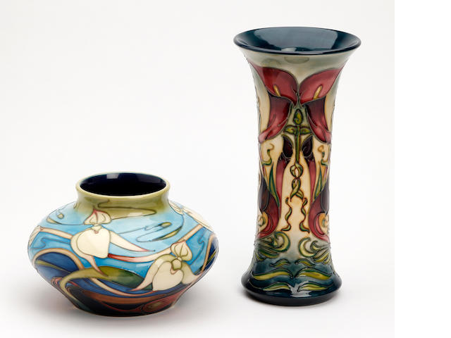 Two Moorcroft vases