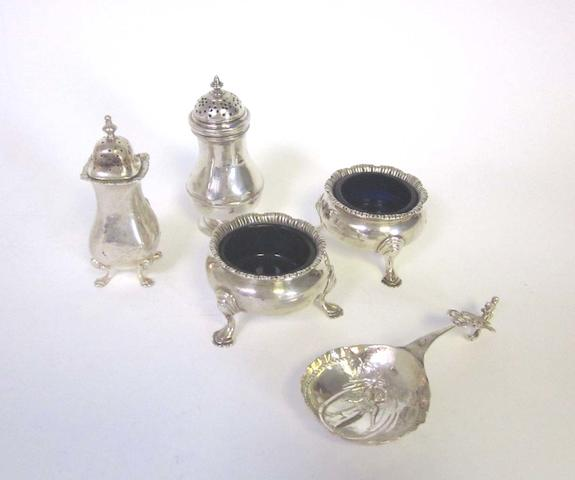 A quantity of assorted  silver items various dates and makers  (Qty)