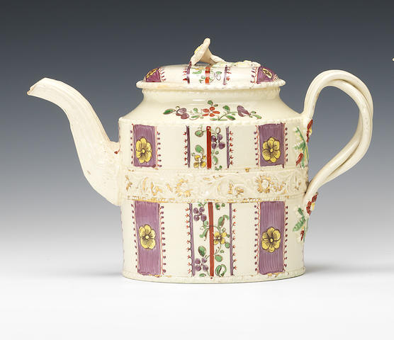 A Greatbatch cylindrical teapot and cover
