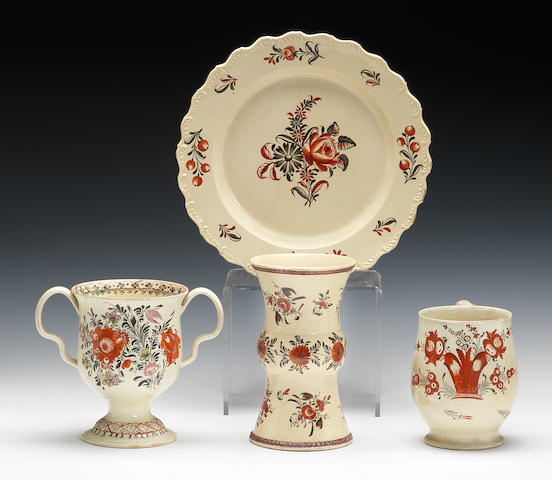 A group of creamwares, circa 1770