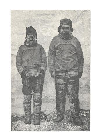 AMUNDSEN (ROALD)  NANSEN (FRIDTJOF) Paa Ski over Grønland, SIGNED BY ROALD AMUNDSEN, Kristiania, H. Aschehoug, 1890