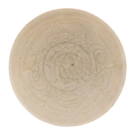 An incised qingbai bowl Song