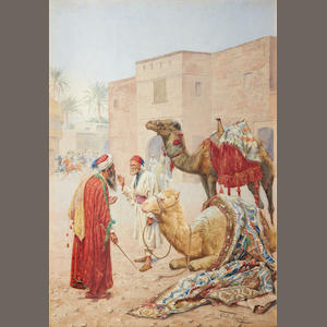 Giulio Rosati (Italian, 1858-1917) The camel seller