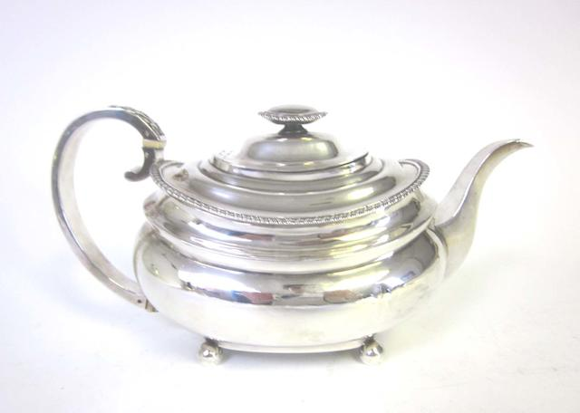 A George III silver teapot by Solomon Hougham, London 1816