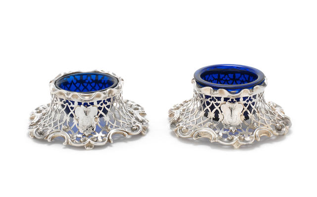 A matched pair of Victorian silver salts by Charles & George Fox, London 1838-42  (2)