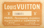 LOUIS VUITTON: A vintage travelling trunk
