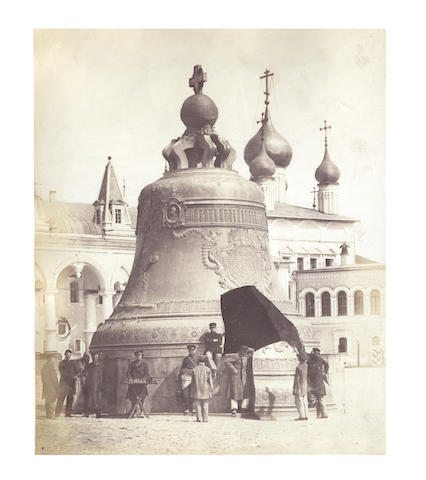 CALCUTTA A very good album containing approximately 193 images comprising a series for India and Burma (excellent for Calcutta) interspersed with British topography, a fine series for Moscow and St. Petersburg, and some other European