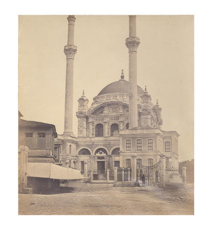 ISTANBUL ROBERTSON and BEATO Two views of mosques in Istanbul, one identified as ?Vila Keuy, [c.1858]
