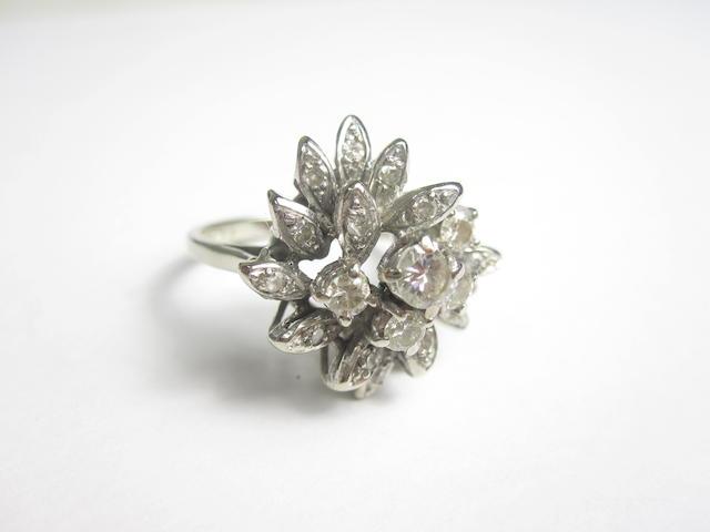 An 18ct diamond dress ring, London 1973