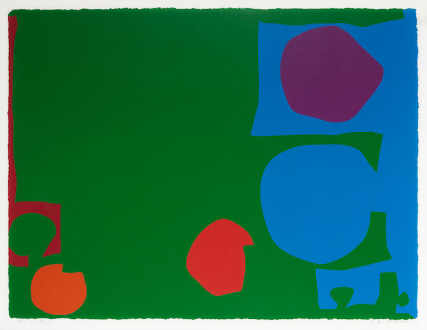 Patrick Heron (British, 1920-1999) Three reds in green and magenta in blue Screenprint in colours, 1970, on wove, signed, dated and inscribed 'Artists Proof' an artist proof aside from the edition of 100, printed by Kelpra Studios, London, published by Waddington Galleries, London, with full margins, 595 x 780mm (23 3/8 x 30 3/4in)(SH)