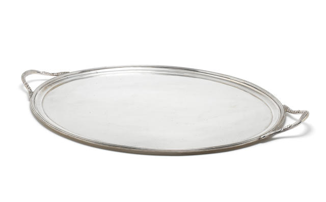 A silver two-handled tray by Henry Stratford Ltd, Sheffield 1912