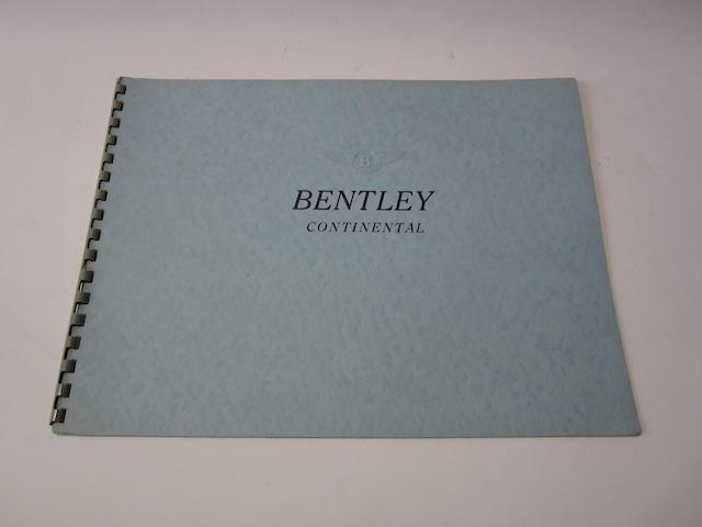 A scarce Bentley Continental 'S' series sales brochure, 1957-59,
