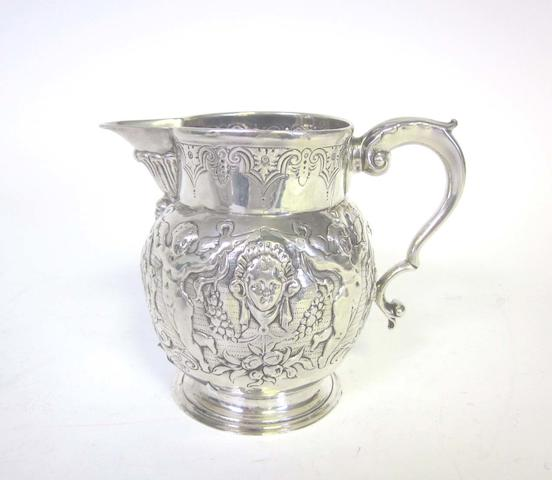 A silver jug with cancelled marks,  L.A.O case number 8908