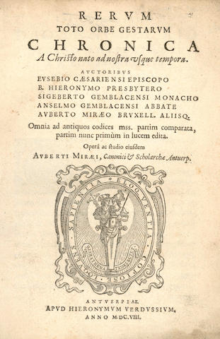 LE MIRE (AUBERT)  Rerum toto orbe gestarum chronica, 1608