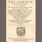 MARKHAM (GERVASE) The English House-Wife. 1631; and another by Markham (2)