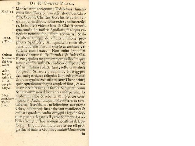 HUMPHREY (LAURENCE) Jesuitismi pars prima, 1582
