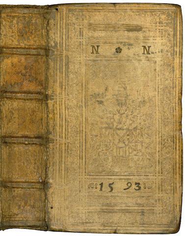 PEZEL (CHRISTOPH) Arguementorum... pars ultima (only), dated vellum binding (1593), 1589