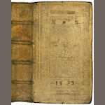 PEZEL (CHRISTOPH) Arguementorum... pars ultima (only), dated vellum binding (1593), 1589