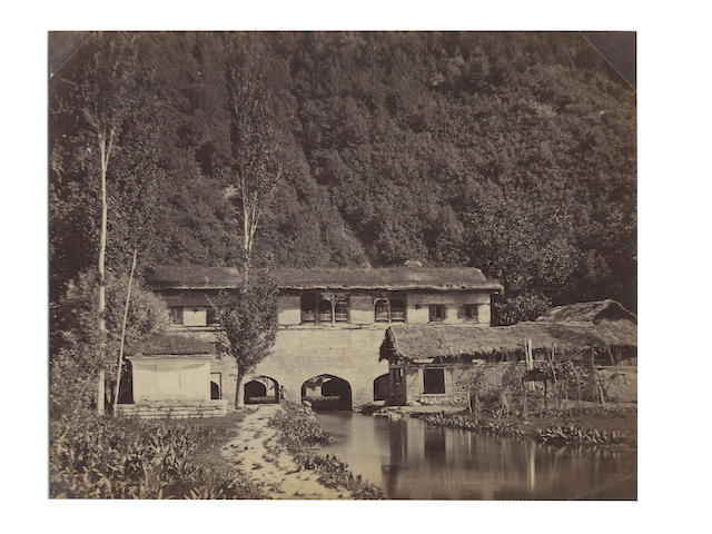 KASHMIR, JHELUM RIVER MELANY (-) Verinag spring, source of the Jhelum river, [c.1870]