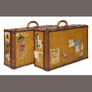 LOUIS VUITTON: Two vintage travelling cases