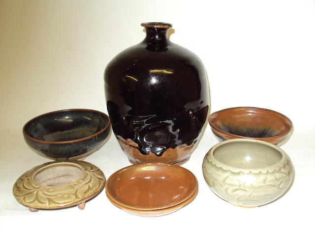 A collection of Chinese vases and bowls
